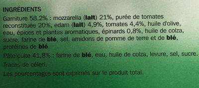 Pizza Merveillosa mozzarella - Ingrediënten - fr