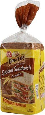 Pain de mie complet spécial sandwich - Produit
