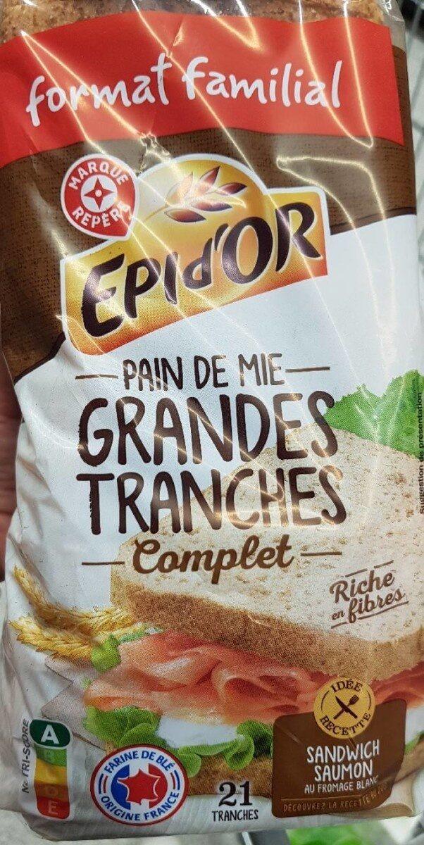 Pain de mie complet spécial sandwich - Produit - fr