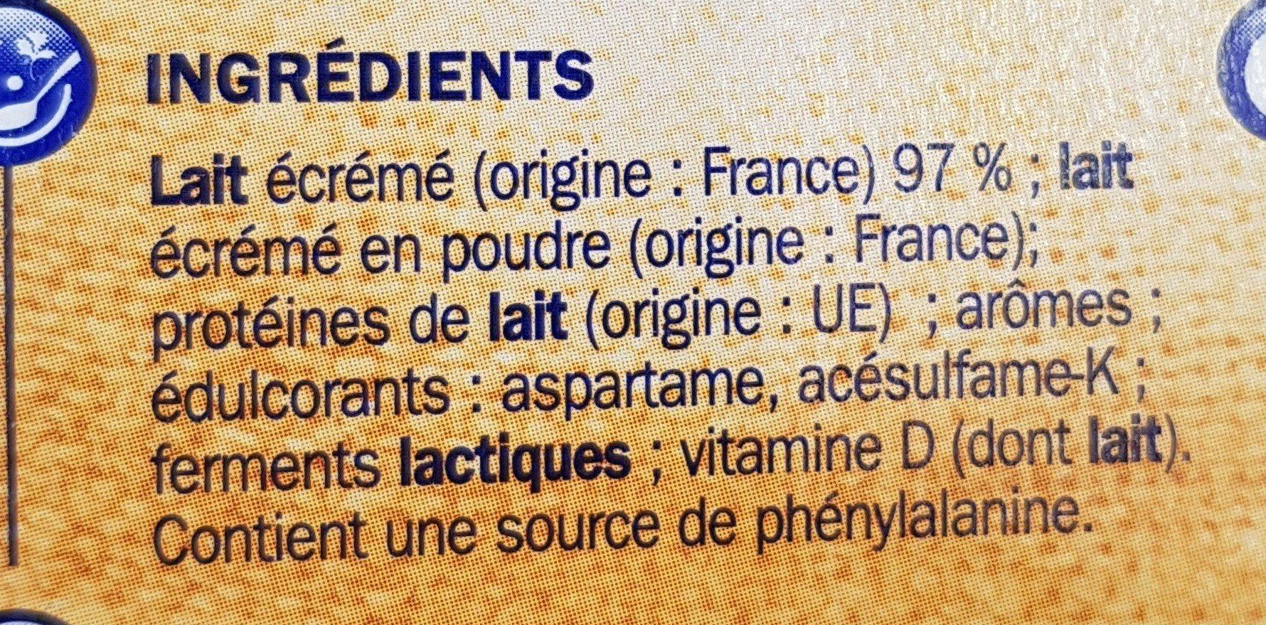 Deli'light saveur vanille - Ingredients