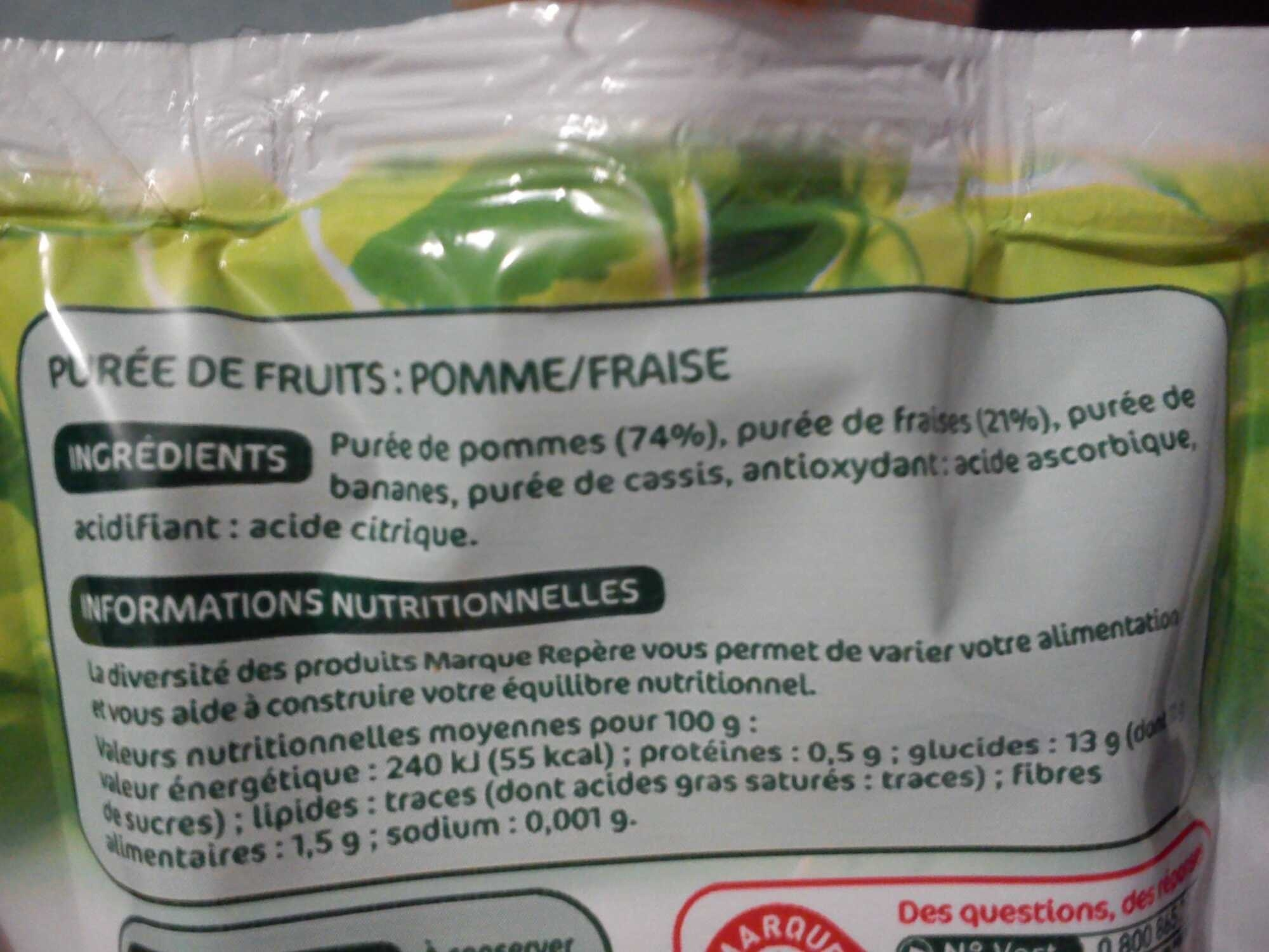 Compote Pomme - Fraises - Product - fr
