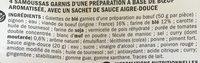 Samoussas au boeuf - Ingrediënten - fr