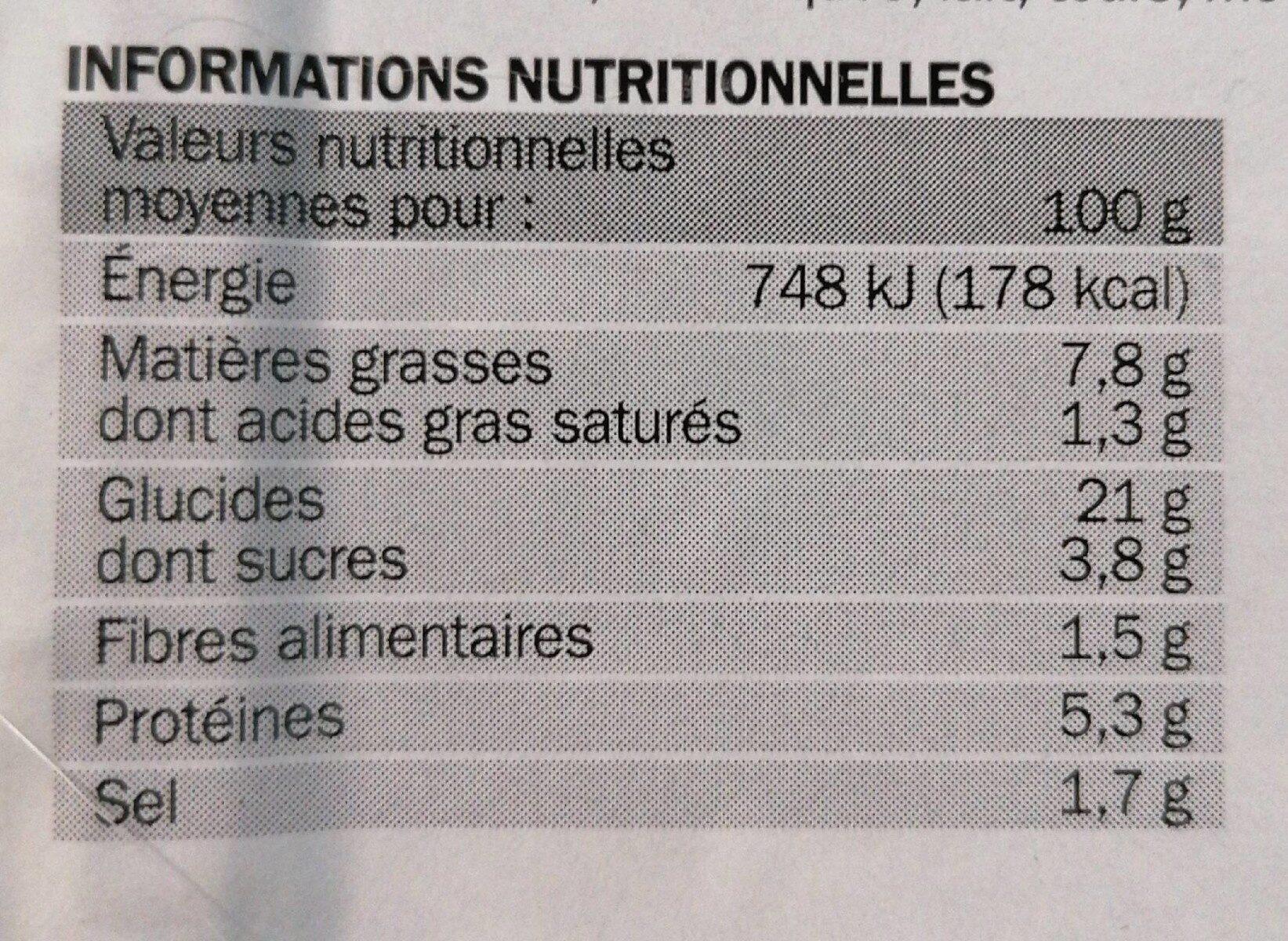 Nems au poulet x4 - Nutrition facts - fr
