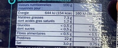 Truite fumée 6 mini tranches - Nutrition facts - fr