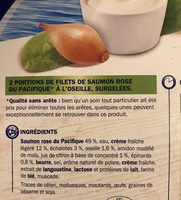 Saumon à l'oseille - Ingrediënten - fr