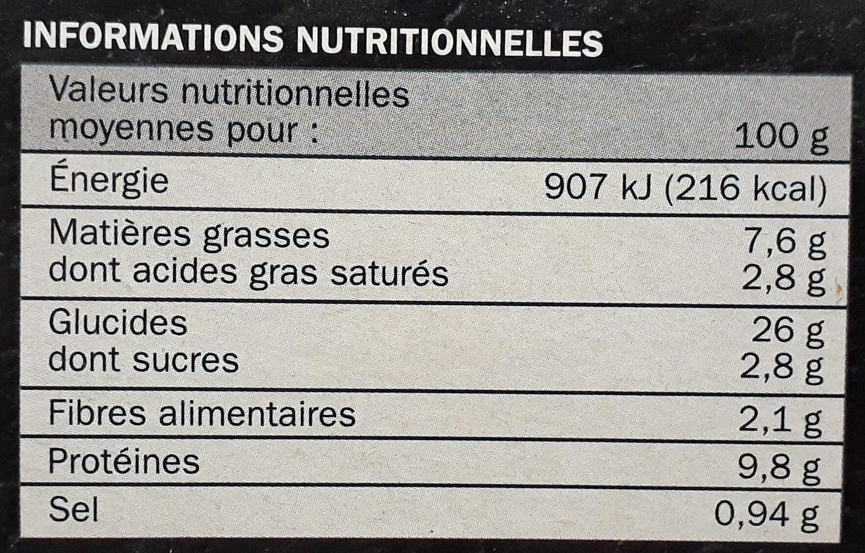 La familiale - Royale - Informations nutritionnelles