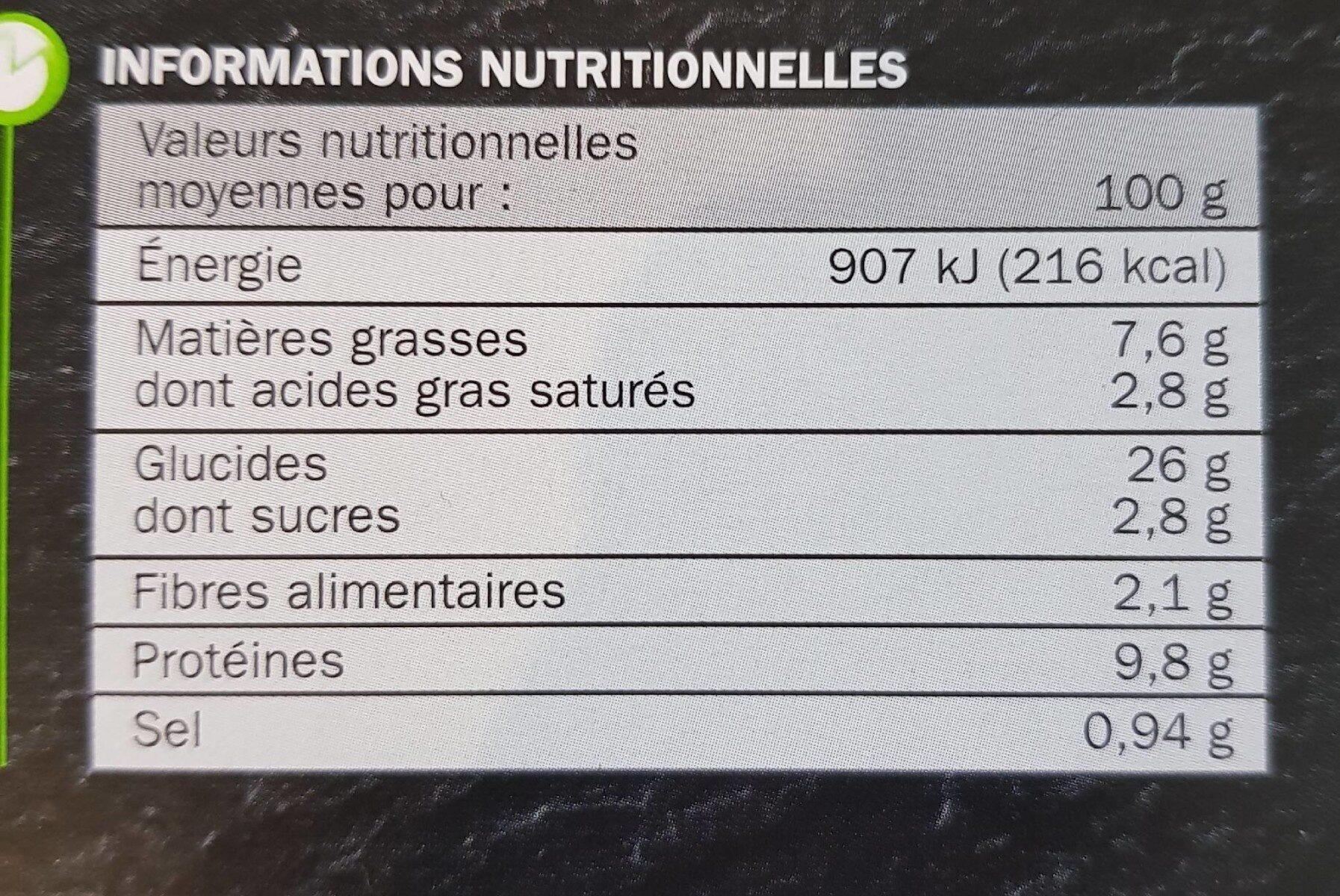 La familiale - Royale - Informations nutritionnelles - fr