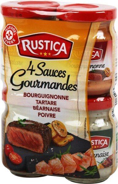 Sauces gourmandes pour viandes 90 ml x 4 - Produit - fr
