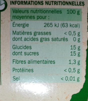 Compotes pomme fraise - Valori nutrizionali - fr