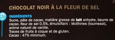 Chocolat noir fleur de sel - Ingredienti - fr