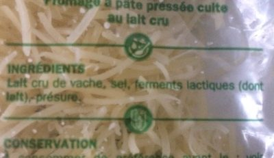Comté - Ingredients