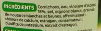 Cornichons extra-fin tirette - Ingrédients