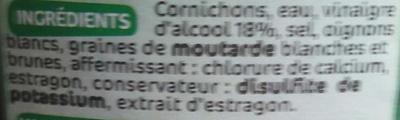 Cornichons ef 360g pne - Ingrédients - fr