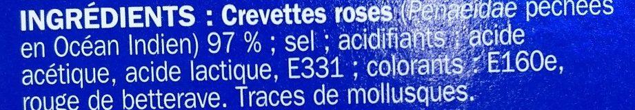Petites crevettes roses - Ingrediënten