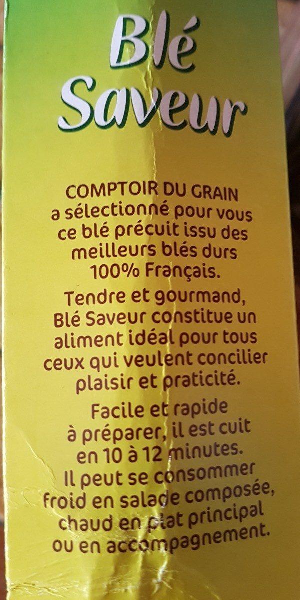 Blé précuit cuisson rapide 10 min - Ingrédients - fr