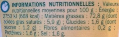 Mayonnaise - Informations nutritionnelles - fr