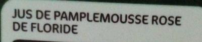 Pur jus pamplemousse floride bk - Ingredients - fr