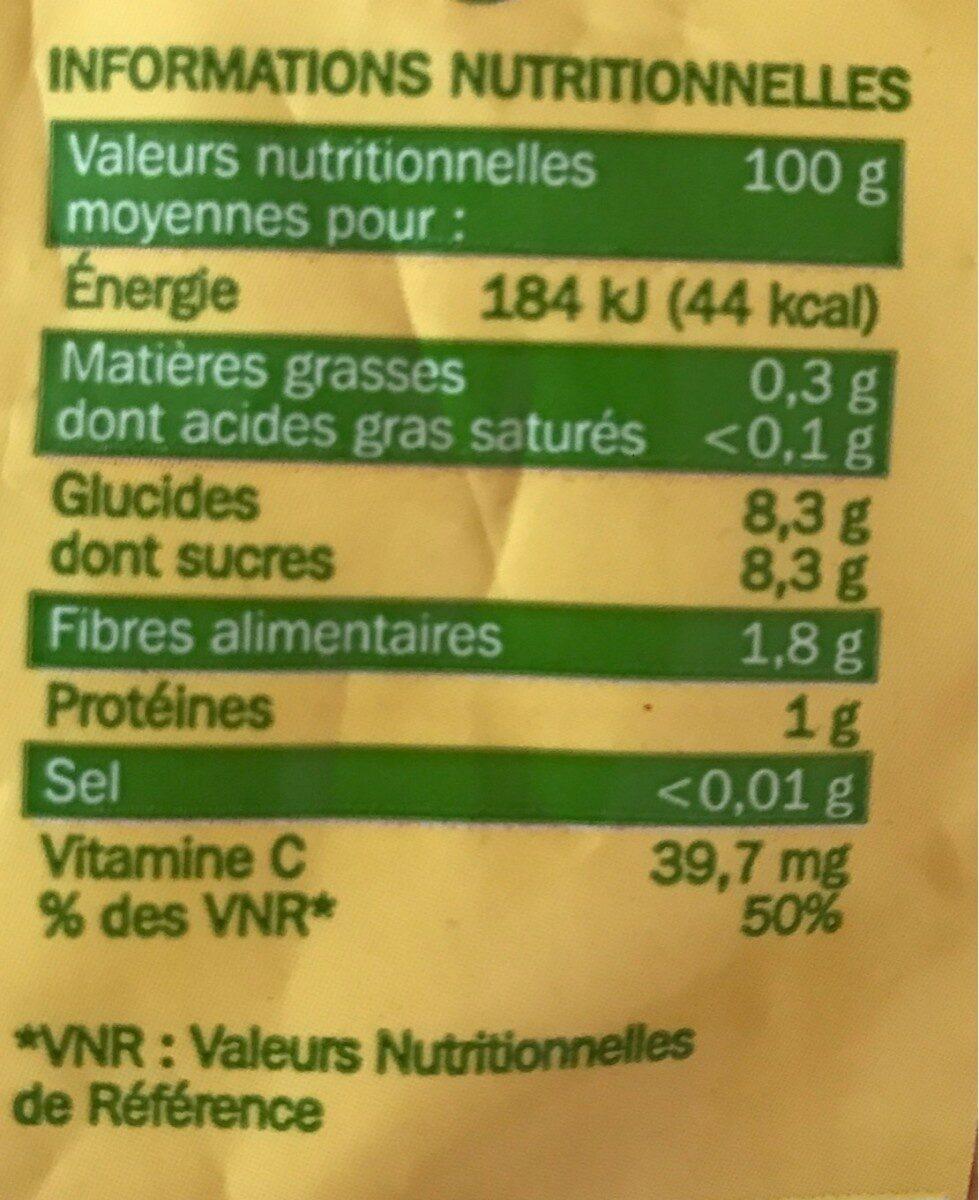 Oranges spécial jus - Nutrition facts - fr