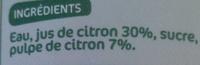 Les Pressés Citron - Ingrédients