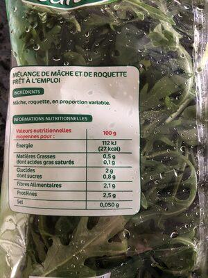 Duo de Mâche et Roquette - Ingrediënten - fr
