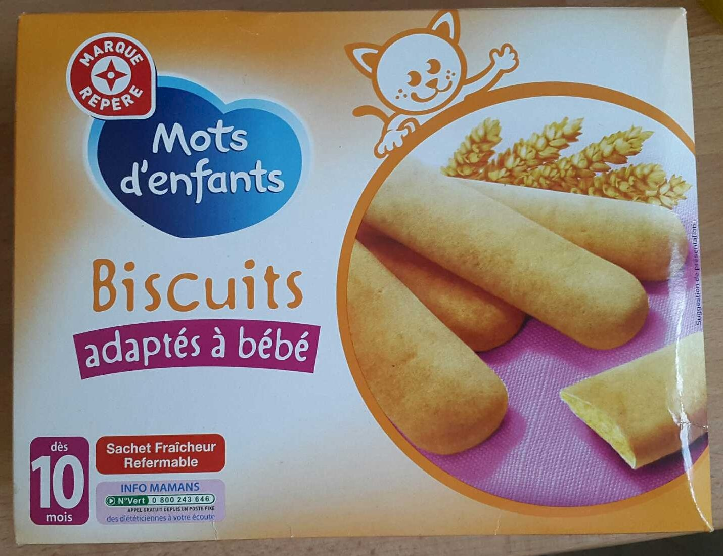 Biscuits adaptés à bébé - Product - fr