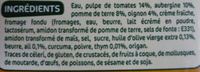 Veloute legumes du soleil - Ingredients - fr