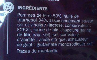 Chips sel et vinaigre - Ingrediënten - fr