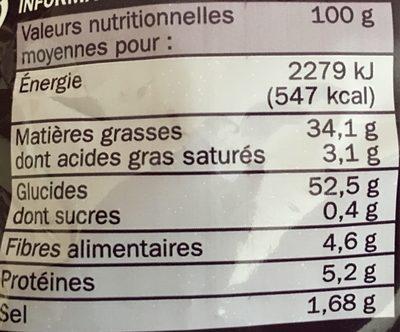 Chips sel et vinaigre - Voedingswaarden - fr