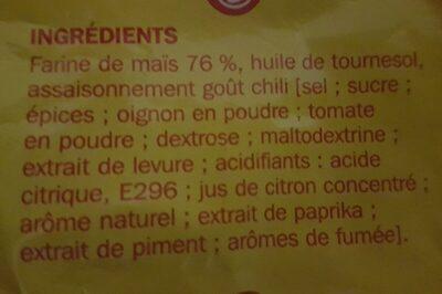 Tortillas chips goût chili - Ingrédients