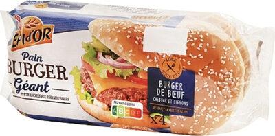 Pains natures pour hamburgers x 4 - Produit - fr