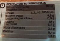 Pains natures pour hamburgers x 4 - Informations nutritionnelles - fr