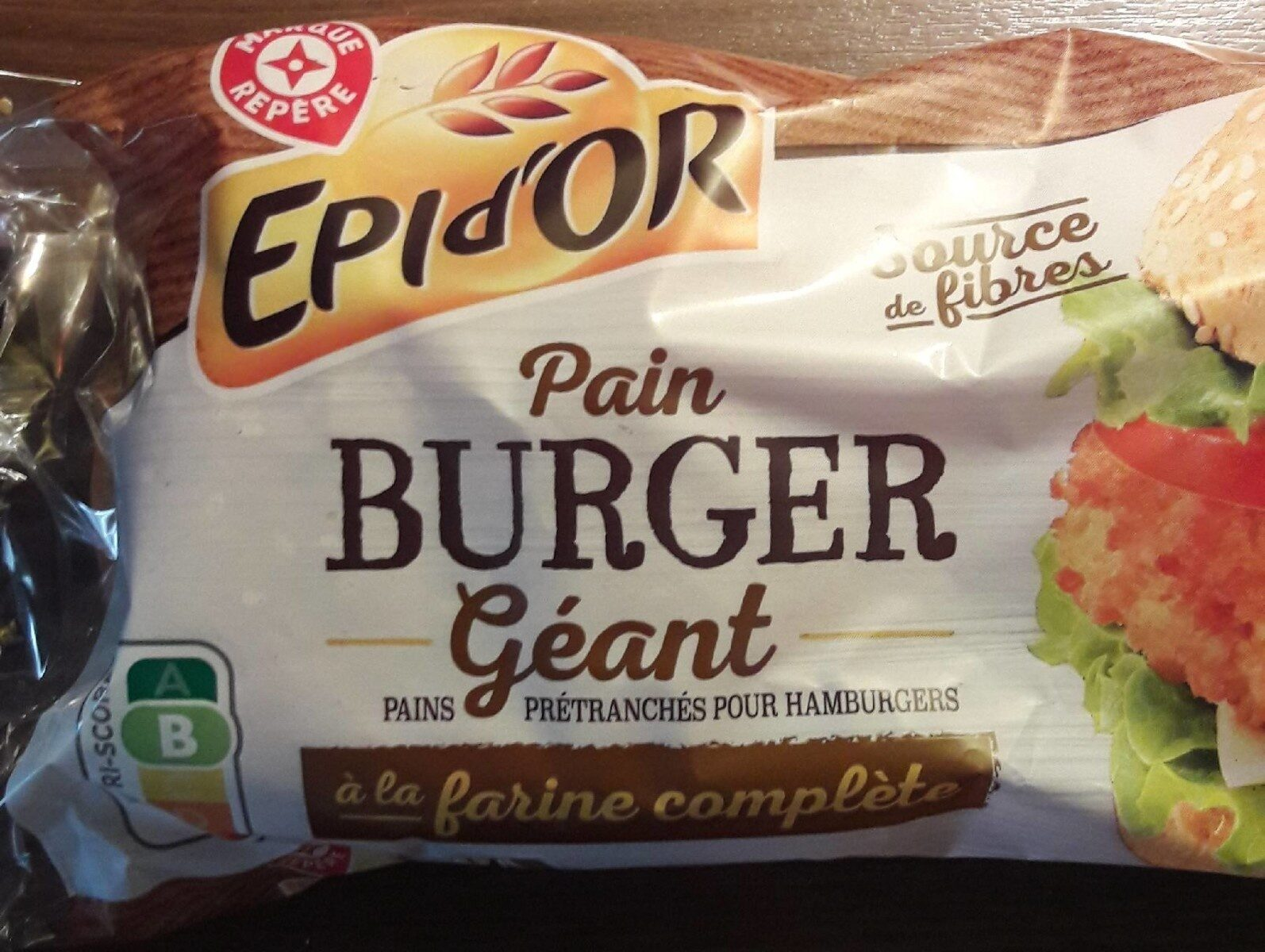 Pains complets pour hamburgers x 4 - Product - fr