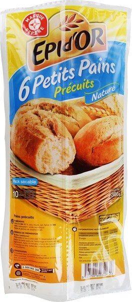Petits pains nature précuits x 6 - Produit