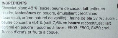 Petit-beurre tablette chocolat blanc - Ingrédients