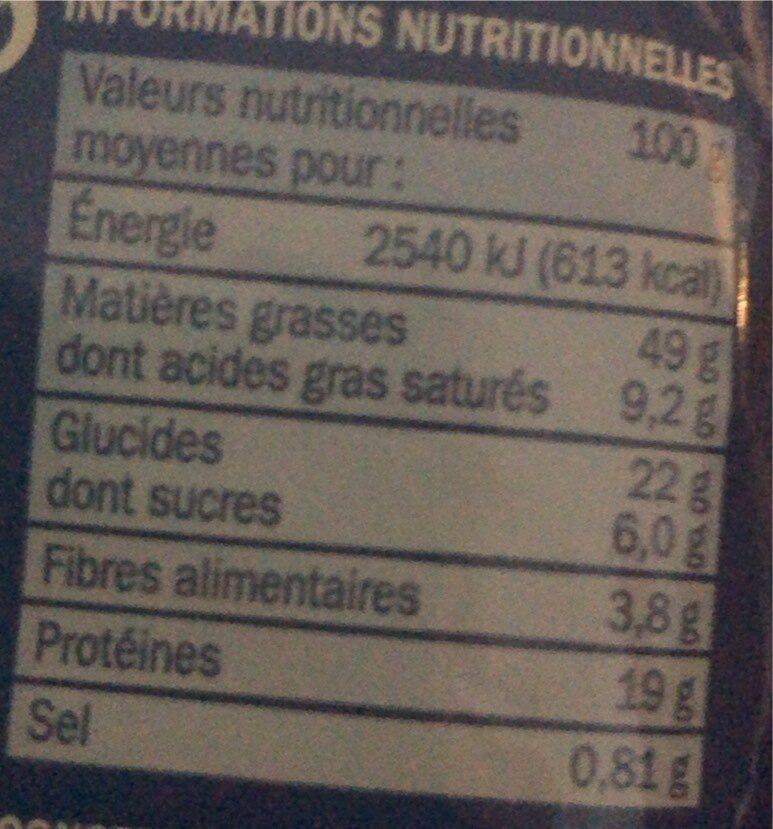 Noix de cajou grillées et salées - Valori nutrizionali - fr