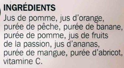 Pur jus multifruits pet - Ingrediënten - fr