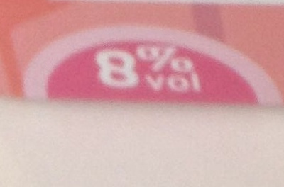 Rosé pamplemousse 8 % vol. - Bag-in-Box ® - Nutrition facts - fr