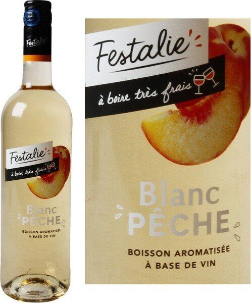 Boisson à base de vin blanc pêche - Marque Repère - 75 cl
