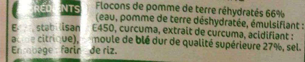 Gnocchi - Inhaltsstoffe - fr