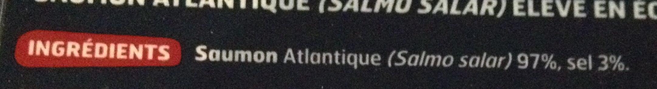 Saumon fumé d'Ecosse Label Rouge 2 tranches - Ingrediënten - fr