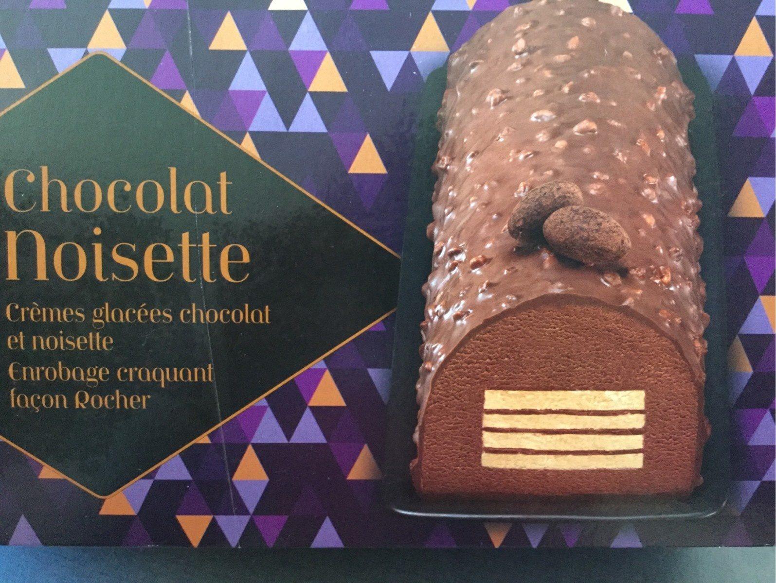Bûche glacée Crèmes glacées chocolat et noisette - Product