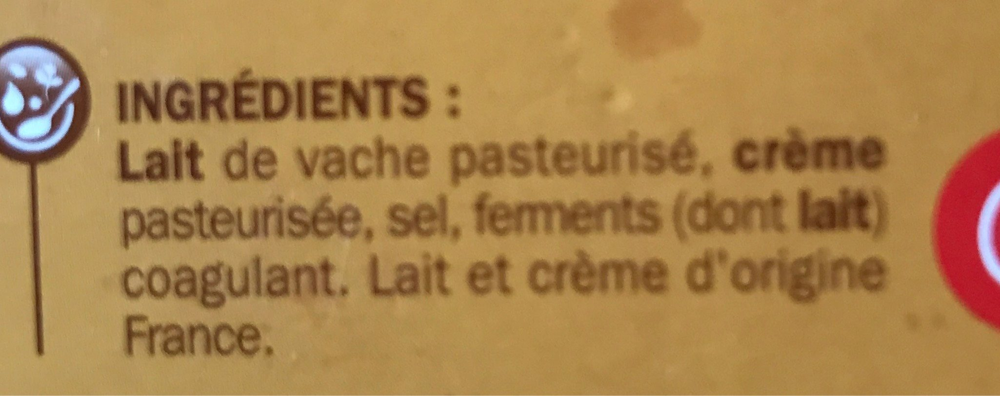 Saint crémeux 36 % Mat. Gr. - Nutrition facts - fr