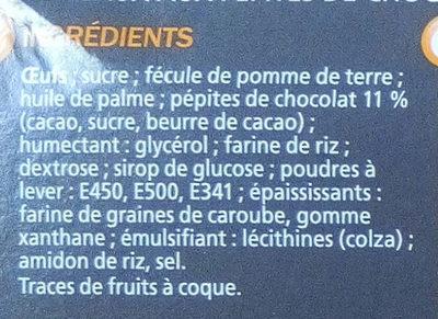 Gâteaux aux pépites de chocolat - Ingredients