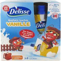Goûters lactés saveur vanille en gourde - Product - fr