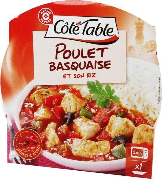 Poulet basquaise et son riz - barquette - Produit - fr