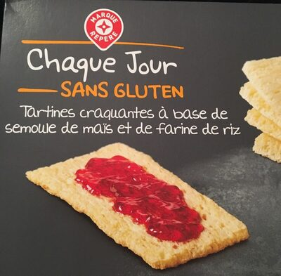 Tartines craquantes sans gluten - Ingrédients
