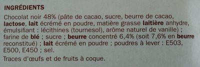 P'tit beurre tablette chocolat noir en sachets fraîcheur - Ingrédients