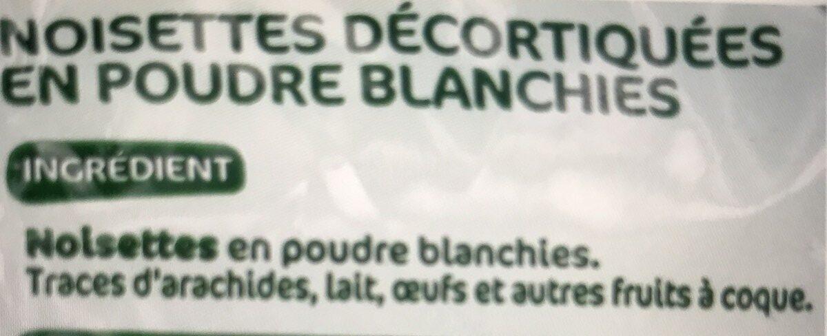Noisettes en poudre - Ingredients - fr