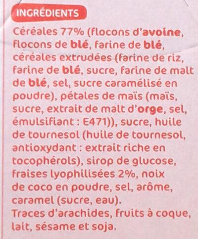 Muesli croustillant fraises - Ingrédients - fr
