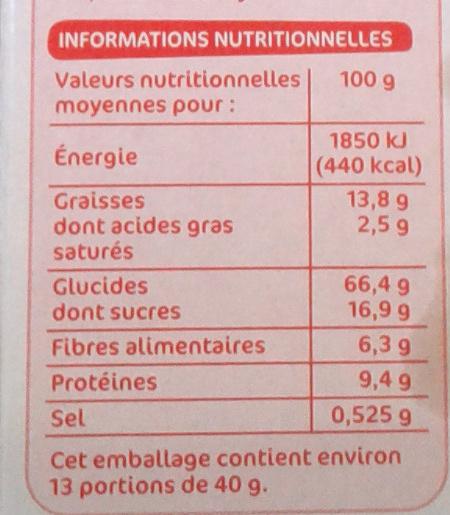 Muesli croustillant fraises - Informations nutritionnelles - fr